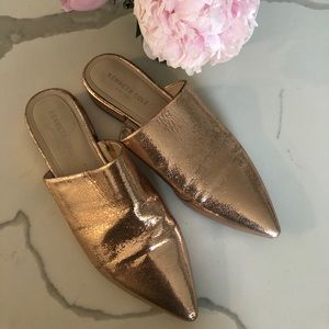 Kenneth Cole Rose Gold Mules